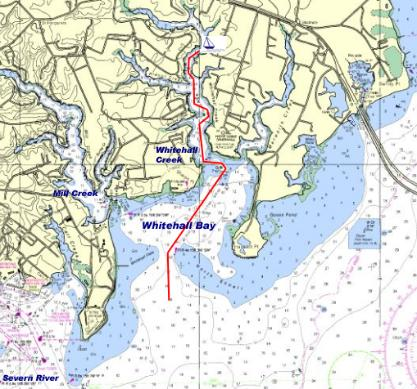 Whitehall Marina, Annapolis, MD - Directions